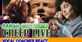 Vocal Coaches REACT to SARAH GERONIMO-CREEP live